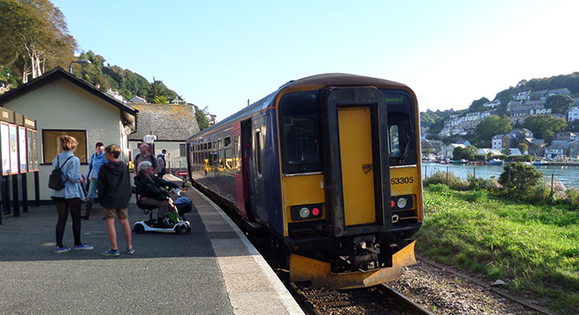 Train at Looe station