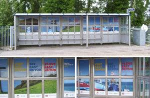 Vinyls at Honiton station