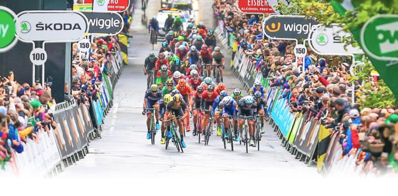 Cyclists on Tour of Britain - copyright Tour of Britain image library