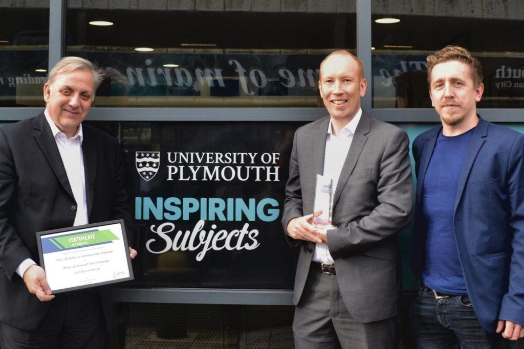 Devon & Cornwall Rail Partnership staff pose with Elixel's Gavin Jones