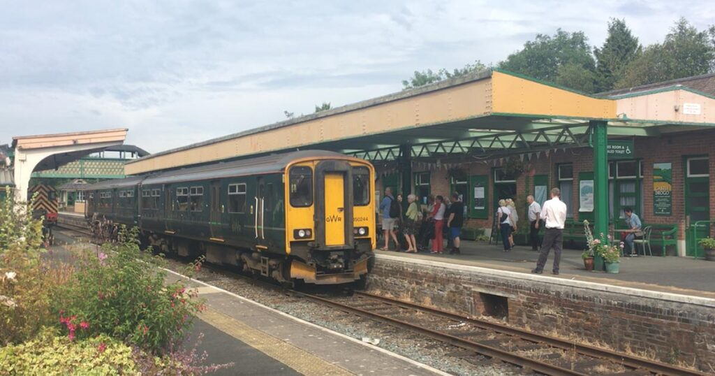 GWR train at Okehampton station